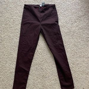 Wine colored pants